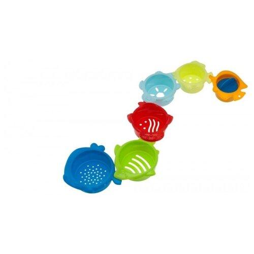 Купить Набор для ванной Chicco Формочки (7513) голубой/зеленый/красный, Игрушки для ванной
