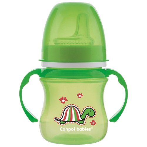 Поильник-непроливайка Canpol Babies 35/207, 120 мл зеленый/черепаха поильник непроливайка canpol babies 35 207 120 мл розовый черепаха