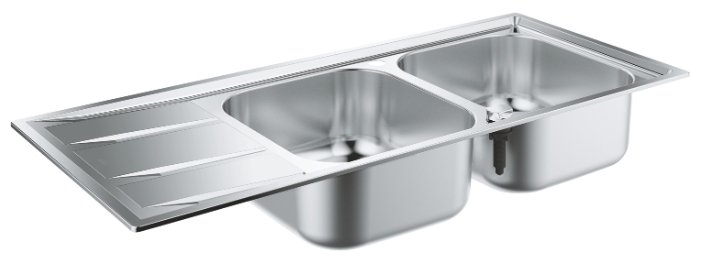 Врезная кухонная мойка Grohe K400 31587SD0 116х50см нержавеющая сталь