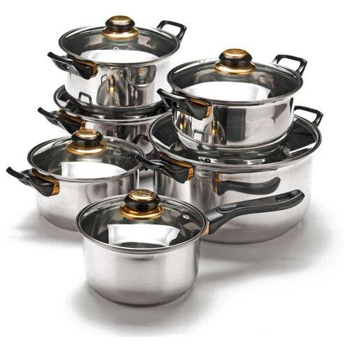 Набор посуды MAYER & BOCH 25750 12 пр. металлик