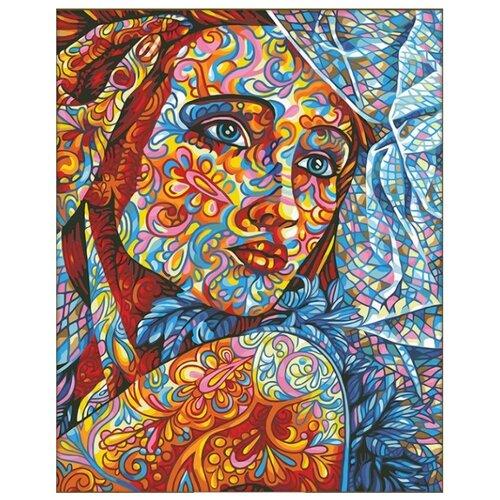 Алмазная живопись Набор алмазной вышивки Витражный портрет (АЖ-1599) 40х50 см