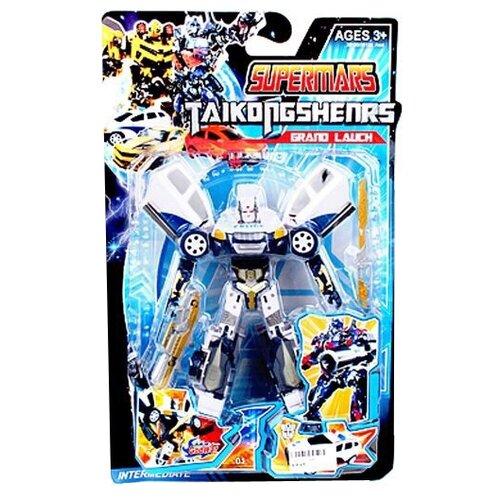 Купить Трансформер Shantou Gepai Полицейская машина 9967-1 серо-синий, Роботы и трансформеры