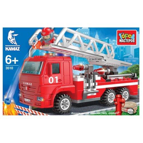 Купить Конструктор ГОРОД МАСТЕРОВ Пожарная служба 3510 Камаз: Пожарная машина с лестницей, Конструкторы