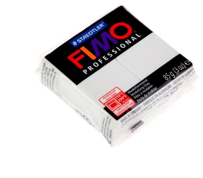 Полимерная глина FIMO Professional запекаемая 85 г белый (8004-0)