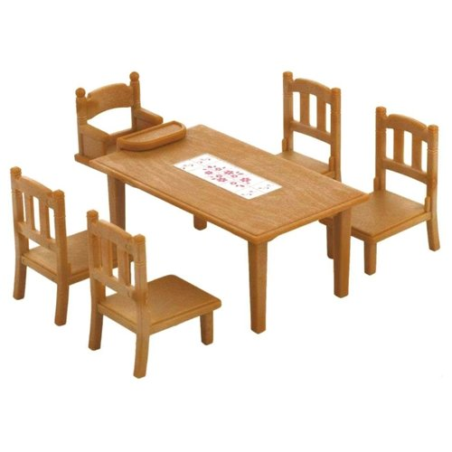 Купить Игровой набор Sylvanian Families Обеденный стол с 5-ю стульями 2933/4506, Игровые наборы и фигурки