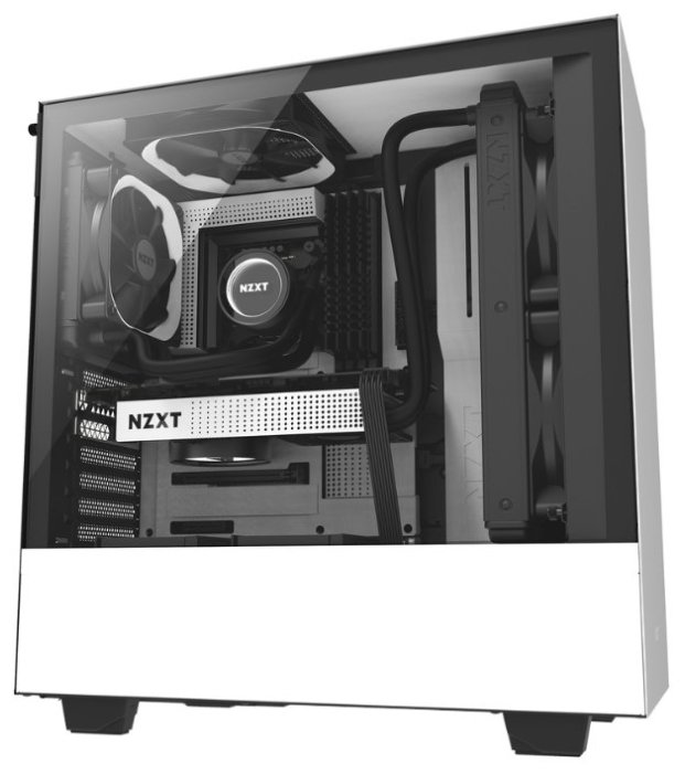 NZXT Компьютерный корпус NZXT H500 White/black