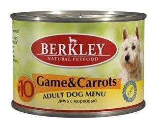 Корм для собак Berkley (0.2 кг) 1 шт. Паштет для собак #10 Дичь с морковью
