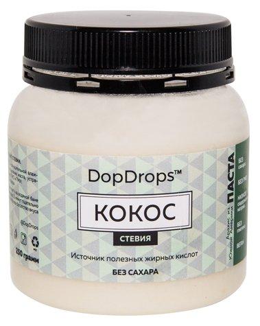DopDrops Паста ореховая Кокос (стевия) пластик