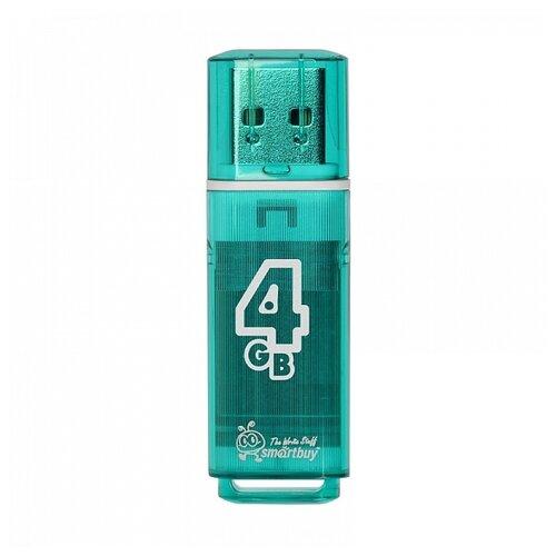 Фото - Флешка SmartBuy Glossy USB 2.0 4 GB, изумрудный флешка smartbuy glossy usb 2 0 32 gb изумрудный