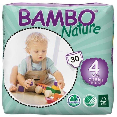 Купить BAMBO подгузники Nature Maxi (7-18 кг) 30 шт., Подгузники