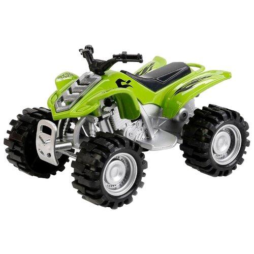 Купить Квадроцикл ТЕХНОПАРК 4004-R 11 см зеленый/серый, Машинки и техника