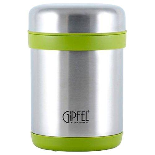 Термос для еды GIPFEL ланч-бокс, 0.75 л серебристый/зеленый