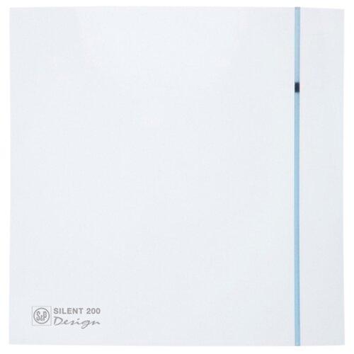 Вытяжной вентилятор Soler & Palau SILENT-200 CHZ DESIGN 3C, white 16 Вт