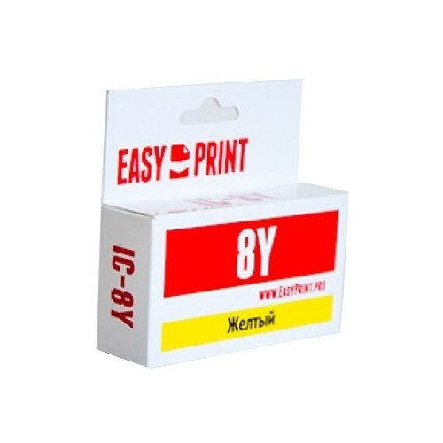 Фото - Картридж EasyPrint IC-CLI8Y, совместимый картридж easyprint ic pgi450bk xl совместимый