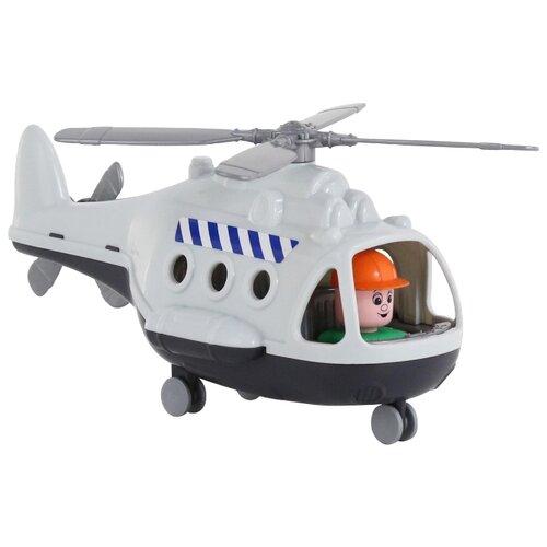 Купить Вертолет Полесье Альфа грузовой (68828) в коробке 29.5 см белый, Машинки и техника