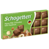 Шоколад Schogetten Alpine Milk Chocolate with Hazelnuts альпийский молочный с фундуком порционный
