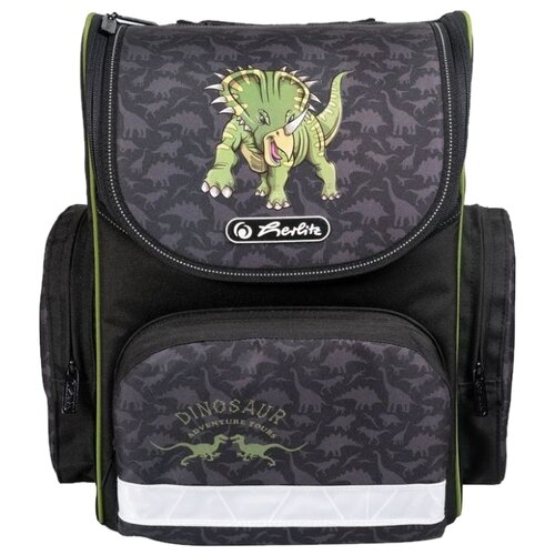 Herlitz Ранец Mini Dino, черный/салатовый dino ricci 508 12 04