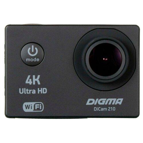 Экшн-камера Digma DiCam 210 черный