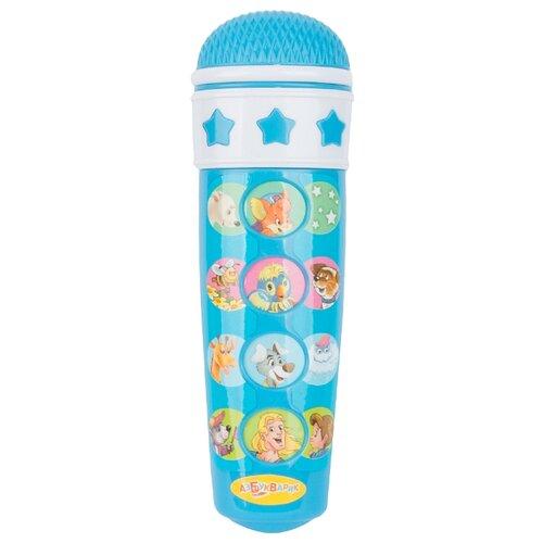 Купить Азбукварик микрофон Караоке Песенки друзей голубой, Детские музыкальные инструменты
