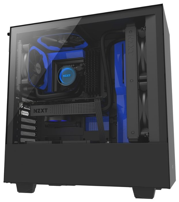 NZXT Компьютерный корпус NZXT H500 Black/blue