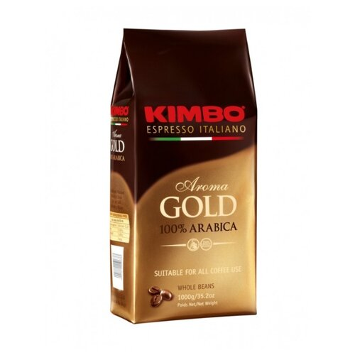 Кофе в зернах Kimbo Aroma Gold Arabica, арабика, 1000 г кофе в зернах kimbo aroma gold 100% arabica 250 г