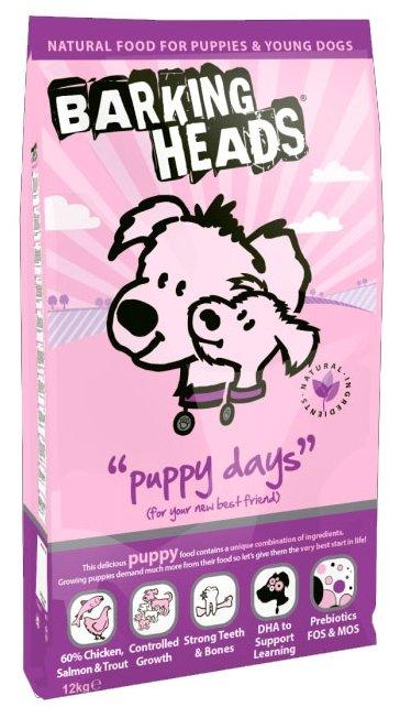 Корм для собак Barking Heads Для щенков с курицей, лососем и рисом Щенячьи деньки (12 кг)