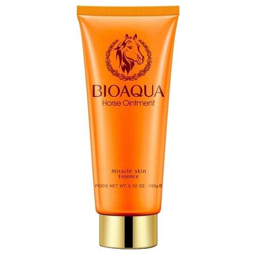 Фото - BioAqua пенка для умывания с лошадиным маслом Horseoil, 100 г kumano cosmetics natural oil пенка для умывания с лошадиным маслом очищающая для жирной кожи 130 г