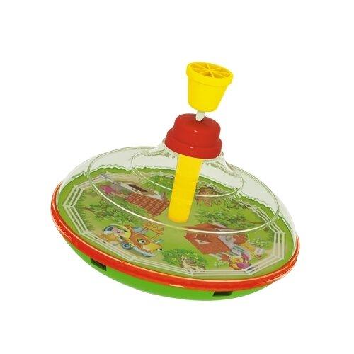 Юла Stellar Домик в деревне (01332) зеленый/красный/желтый игрушка chuc юла