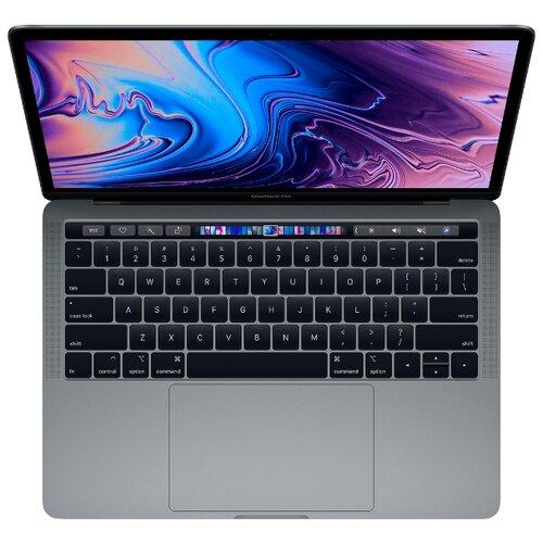 "Ноутбук Apple MacBook Pro 13 with Retina display and Touch Bar Mid 2018 (Intel Core i5 2300 MHz/13. 3""/2560x1600 /8GB/256GB  SSD/DVD нет/Intel Iris Plus Graphics 655/Wi-Fi/Bluetoo th/macOS)  MR9Q2RU/A серый космос"