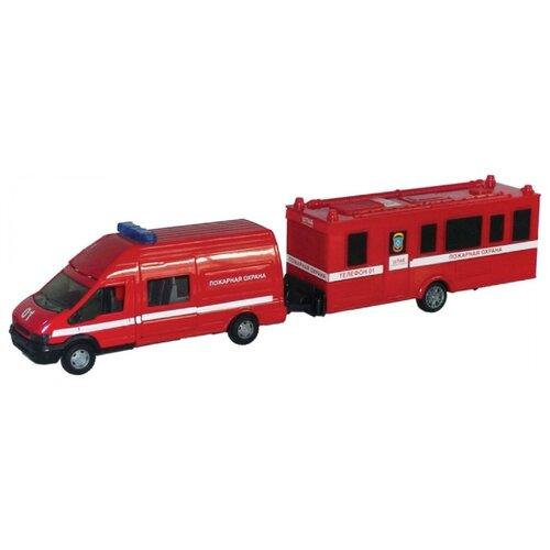 Купить Пожарный автомобиль Autogrand Rescue Van пожарная с прицепом (48736) 1:48 красная, Машинки и техника