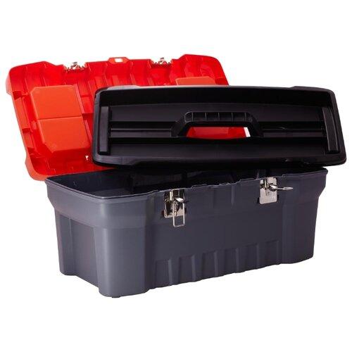 Ящик с органайзером BLOCKER Expert PC3732 56 х 28 x 23.5 см 22 серый/свинцовыйЯщики для инструментов<br>
