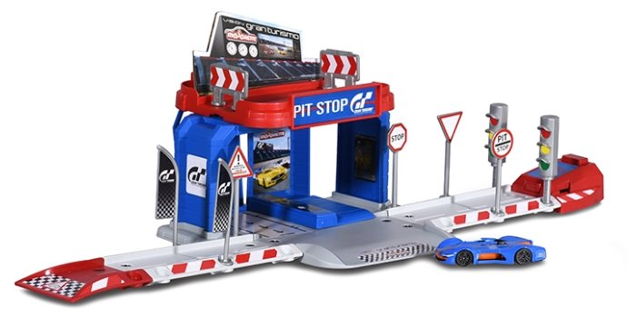 Majorette Игровой набор Vision Gran Turismo Pit Stop парковка, сервис 2050002