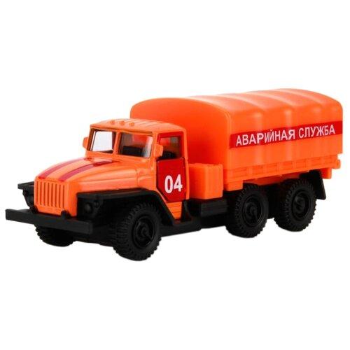 Купить Грузовик ТЕХНОПАРК Урал Аварийная служба (SB-15-35-T12-WB) оранжевый, Машинки и техника