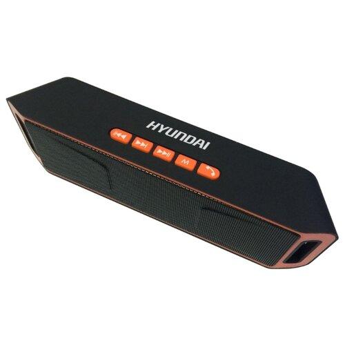 Портативная акустика Hyundai H-PAC160 черный / оранжевый