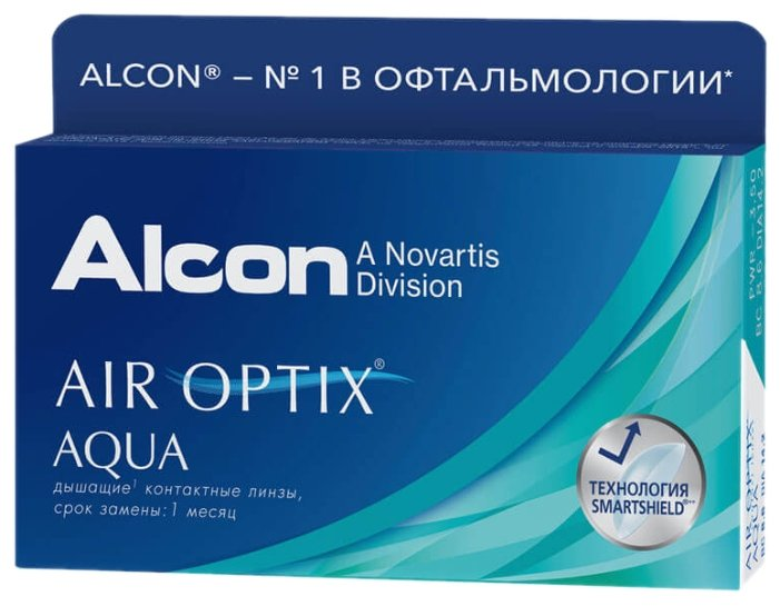 Контактные линзы Air Optix (Alcon) Aqua (6 линз) R 8,6 D -8,5