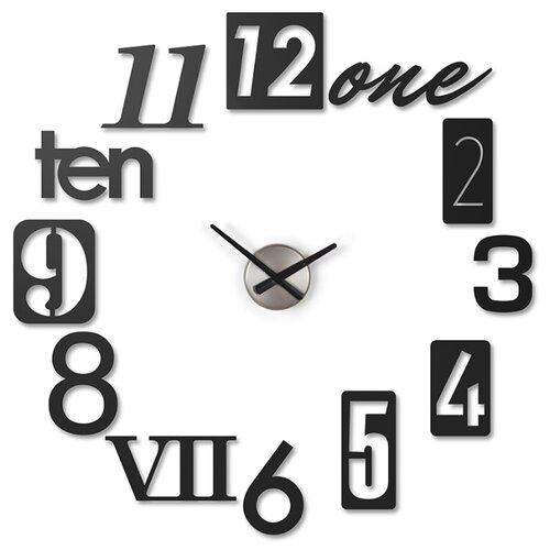 Часы настенные кварцевые Umbra Numbra 118430-040 черный часы настенные umbra umbra mp002xu0e7o0