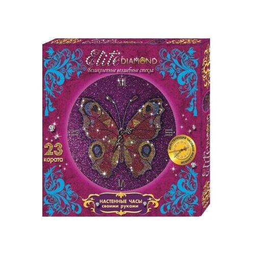 Купить Лапландия Набор алмазной вышивки с часовым механизмом Набор для творчества Elite Diamond Бабочки (45764) 37.5х25.5 см, Алмазная вышивка