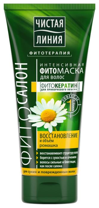 Чистая линия ФИТО маска для волос Восстановление и объем