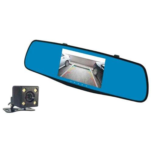 Видеорегистратор Fujida Zoom Mirror, 2 камеры черный