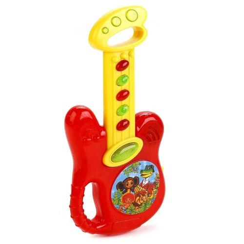 Купить Умка гитара B1579623-R1 красный/желтый, Детские музыкальные инструменты
