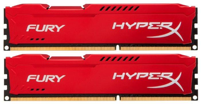 Оперативная память 16Gb DDR-III 1600MHz Kingston HyperX Fury Red (HX316C10FRK2/16) (2x8 KIT)