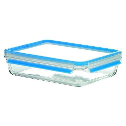 EMSA Контейнер CLIP&CLOSE GLASS 513920 голубой/прозрачныйКонтейнеры и ланч-боксы<br>