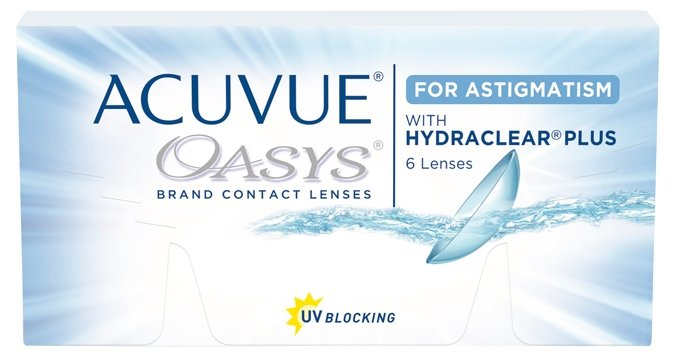 Контактные линзы Johnson & Johnson Acuvue Oasys for Astigmatism (6 линз / 8.6 / -1.75 / -0.75 070)