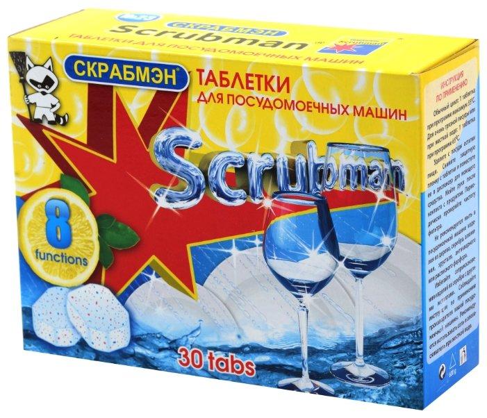 SCRUBMAN 8 в 1 таблетки для посудомоечной машины
