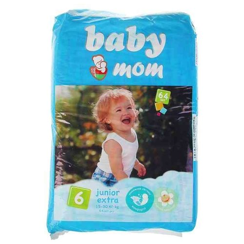 Купить Baby Мom подгузники 6 (15-30 кг) 64 шт., Подгузники