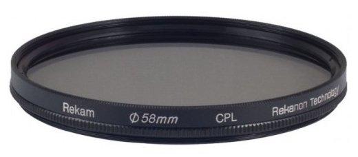 Светофильтр поляризационный круговой Rekam CPL 58 мм