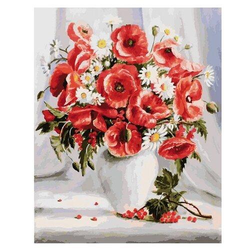Купить Белоснежка Картина по номерам Маки и ромашки 40х50 см (150-АВ), Картины по номерам и контурам