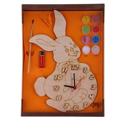 Нескучные игры Набор для росписи Часы с циферблатом Зайка (ДНИ117) нескучные игры набор для росписи часы с циферблатом домик дни113