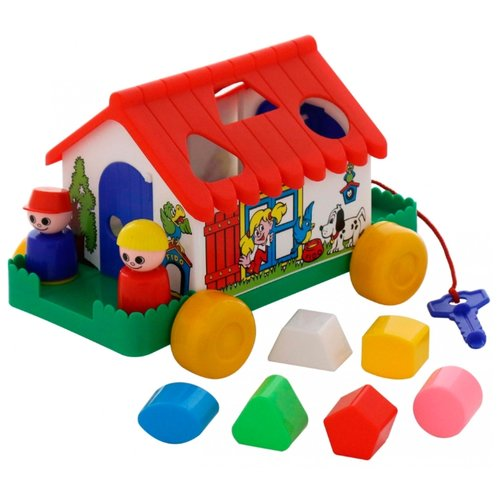 Купить Каталка-игрушка Cavallino Игровой дом (6202) красный/белый/зеленый, Каталки и качалки