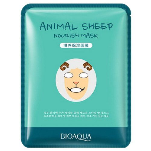 BioAqua Осветляющая маска Animal Face Sheep, 30 гМаски<br>
